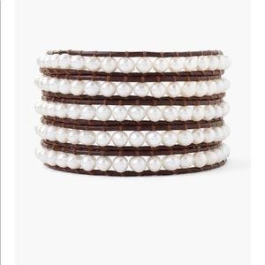 Chan Luu five wrap pearl bracelet